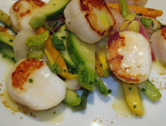 Scallops and Asparagus from Kaiku Restaurant in St. Jean de Luz